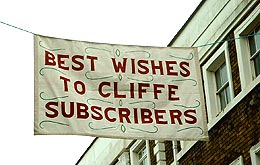 Best wishes to Cliffe Subscribers Banner